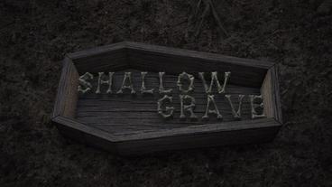 Shallow Grave - Buried Coffin Cemetery Logo Stinger Plantilla de After Effects