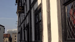 Great Britain England Southampton 10 half-timbered facade of old pub Footage