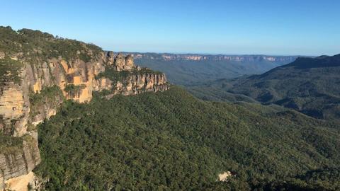 4k footage of Three Sisters peak at Blue Mountains, Australia Footage