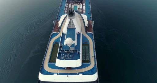 View from above of a large ocean liner Footage
