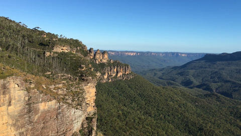 4k footage of Three Sisters peak at Blue Mountains, Australia Footage