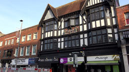 Great Britain England Southampton 44 Tudor building in Above Bar Street Footage