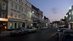 Great Britain England Southampton 47 Star Hotel in High Street by night Footage