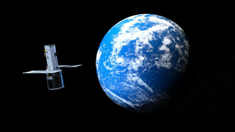 Earth&Artificial satellite Animation