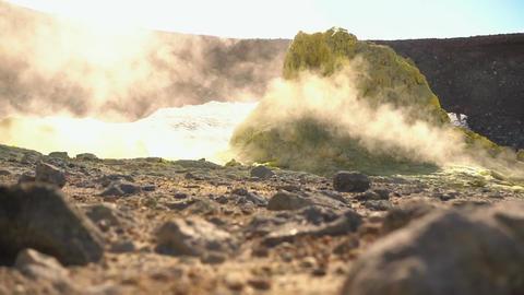 Volcanic Activity, Sulfur Fumarole Footage