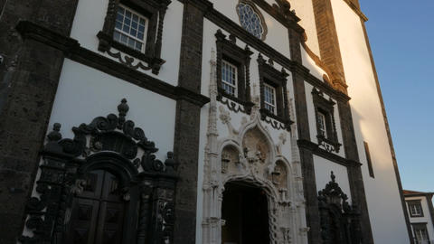 Igreja de Sao Sebastiao, Sao Miguel, The Azores, Portugal Footage