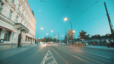 Time lapse of a busy city intersection Footage