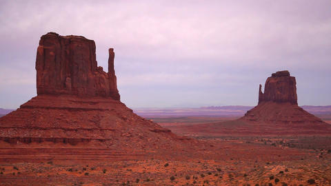 Monument Valley Navajo Nation Tribal Park Sunset Footage