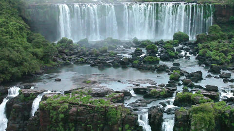 Iguassu Falls, the largest series of waterfalls of the world, view from Brazilia