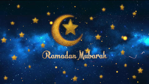 Ramadan Mubarak Greetings CG動画素材