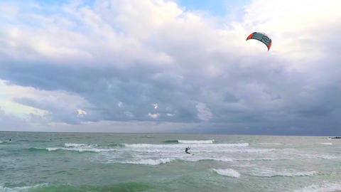 Windsurf On an Ovecast Day