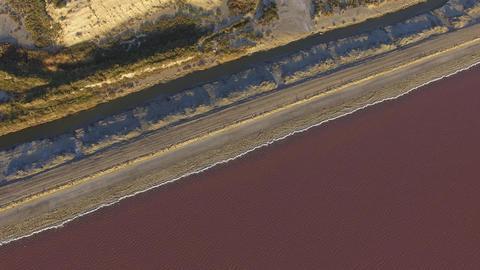 Saline de Giraud, filmed by drone, Camargue, France Footage