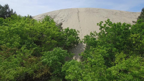 Dune du Pilat and the Arcachon basin, filmed by drone, France Live Action