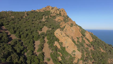 The Esterel mountains, filmed by drone, France Live Action