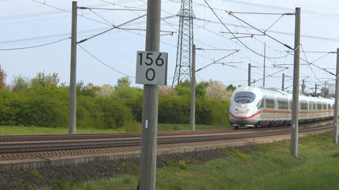 German ICE highspeed train Live Action