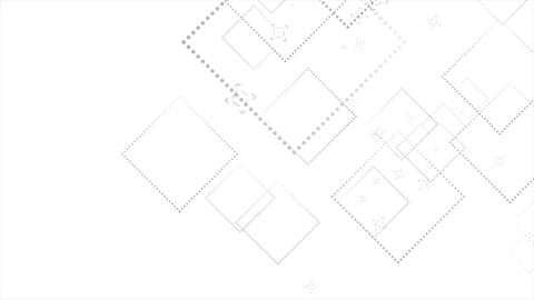 Abstract tech dotted squares video animation CG動画素材