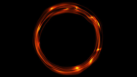 Glowing fiery ring video animation CG動画素材