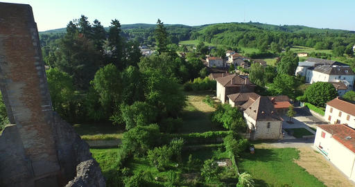 In a natural setting, in the heart of the Monts de Chalus, the village of Cars f Footage