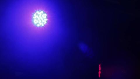 Spotlight rotating slowly, illuminating concert hall, equipment verification Footage