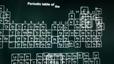 Periodic table of the Elements animation Animation