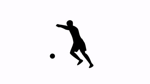 Corner kick animation black and white Animation