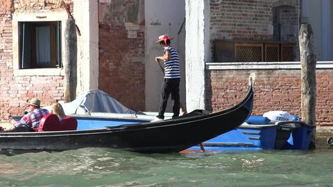 Tourist Gondola In Venice Italy Live Action