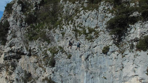 Climbing near the small hilltop village of Peille located in the hinterland of N Footage