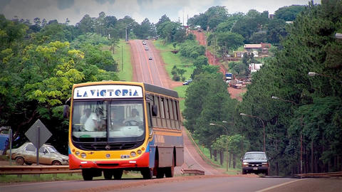 Provincial Route In Misiones, Argentina Footage