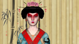 Japanese Geisha Girl, Japan, Asia , animation Animation