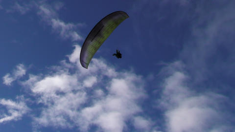 Tandem Paragliding Tracking Shot stock footage