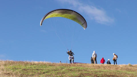 tandem paragliding gains popularity amongst touristic activities in Ecuador Footage
