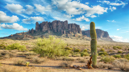 Time lapse of Superstition Mountains Footage