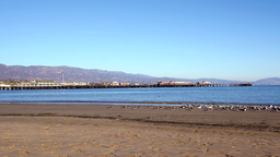 Time lapse of Stearns Wharf in Santa Barbara Footage