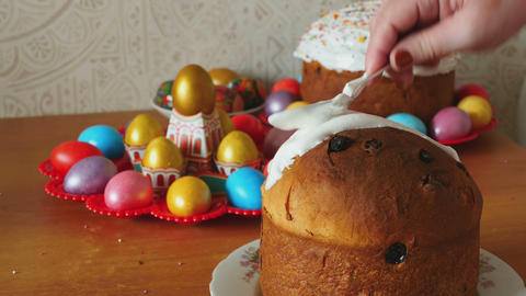 Easter holiday cake Footage