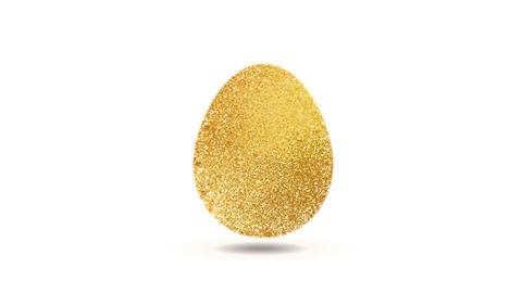 Gold egg sparkles video animation Animation