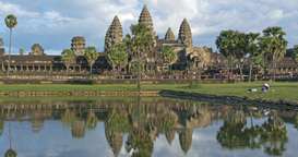 Angkor Wat Cambodia ancient civilization temple Footage