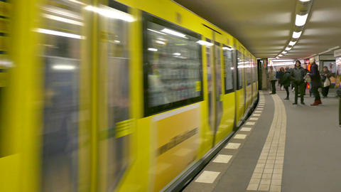 6 Berlin German City Germany Europe Subway Underground Train Station Footage