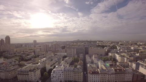 Paris, Gare du Nord district, 360 degrees video panorama Live Action