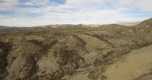 4k Aerial View in the desert, Sierra Alhamila, Spain Footage