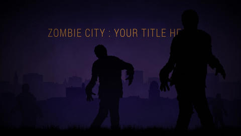 Zombie City After Effects Template