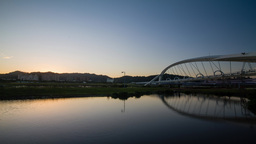 4K Timelapse Of Sun Bridge stock footage