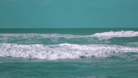 Big Ocean Waves Breaking on Shore Footage