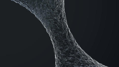 Flowing water motion graphics element. Smooth flow of... Stock Video Footage
