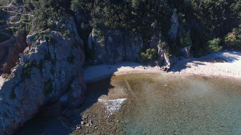 Théoule sur Mer beach, seen by drone Footage