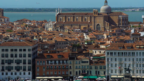Tourist attractions and old architecture in Venice, panoramic view, tourism Live Action