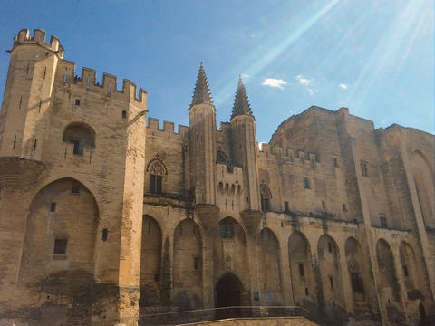 Pope?s palace in Avignon (Palais des Papes) フォト
