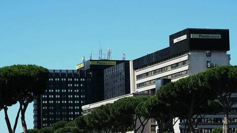 Poste Italiane Headquarters Footage