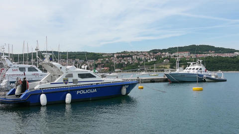 Slovenian police boat Filmmaterial