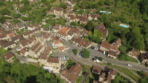 Autoire, one of the most beautiful villages in France seen by drone Live Action