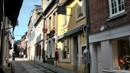 Europe France Normandy fishing village of Honfleur 027 closed shops Footage
